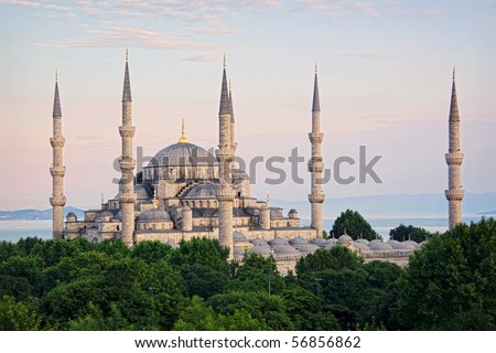 Sultanahmet Camii most famous as Blue Mosque - stock photo