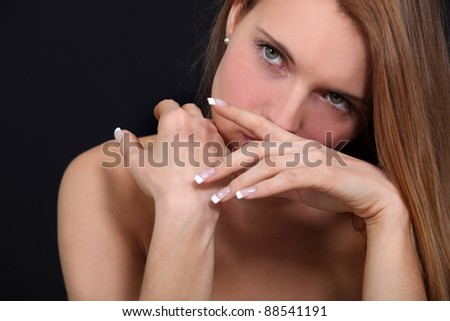 Sultry female model - stock photo