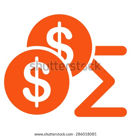 Summary icon from Business Bicolor Set. This flat glyph symbol uses orange color, rounded angles, and isolated on a white background. - stock photo