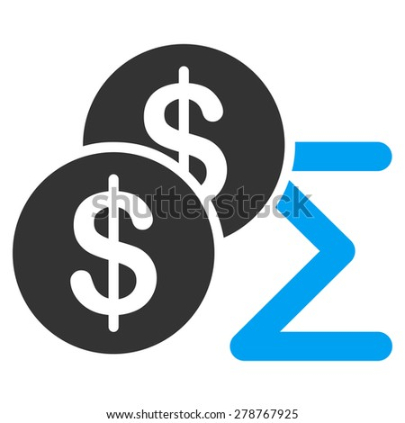 Summary icon from Business Bicolor Set. This isolated flat symbol uses modern corporation light blue and gray colors. - stock photo