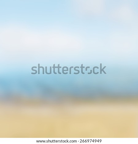 summer abstract background, sky and beach - stock photo