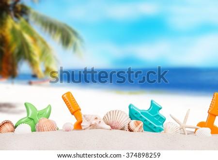 summer accessories, Summer concept - stock photo