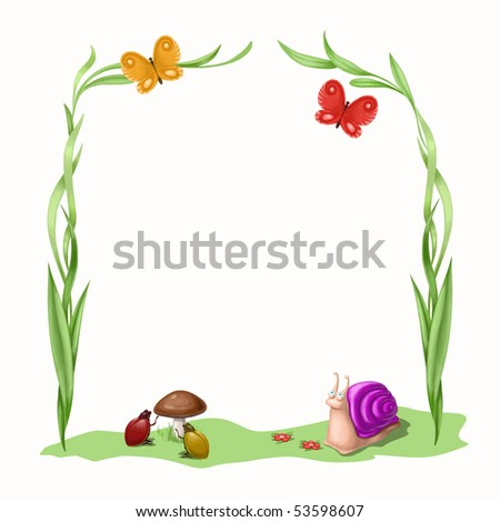 summer and cheerful  insect - stock photo
