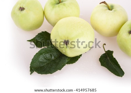Summer apple isolated on white background