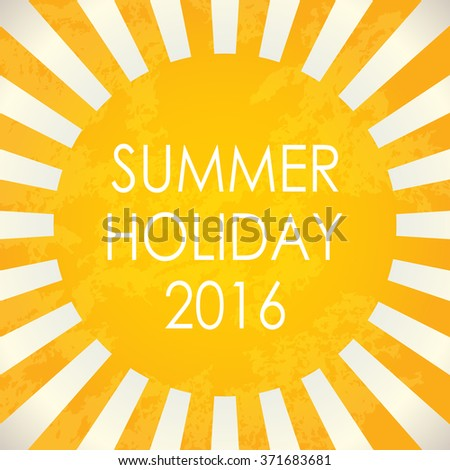 Summer background - 2016 - stock photo
