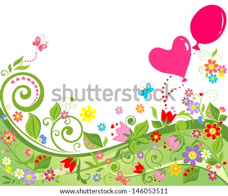 Summer background. Raster copy of vector image