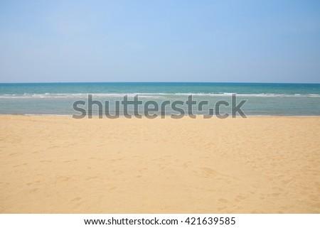 Summer beach. - stock photo