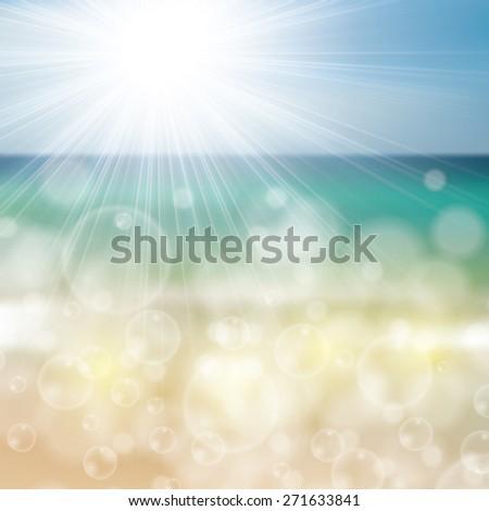 Summer beach ocean tropical design  - stock photo
