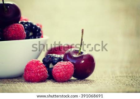 Summer berries - stock photo