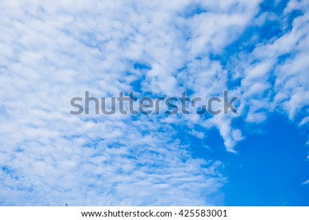 summer blue sky .blue sky with white clouds.soft white cloud blue sky.fantastic white cloud blue sky