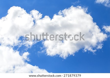 Summer blue sky, clouds. - stock photo