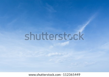 Summer blue sky with white clouds - stock photo