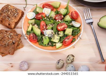 summer breakfast - stock photo