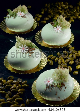 Summer chinese white cake - stock photo