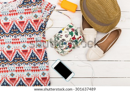 Summer clothes - stock photo