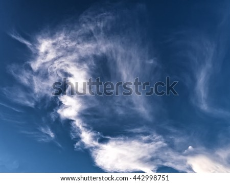 Summer clouds  - stock photo