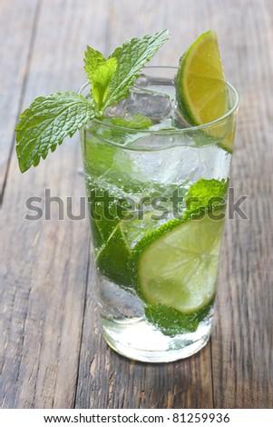 summer cocktail , mojito - stock photo