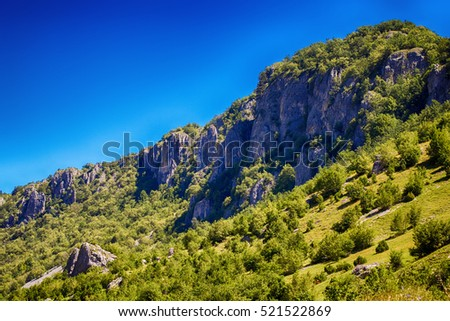 Summer colorful nature mountain landscape, Montenegro, Europe.