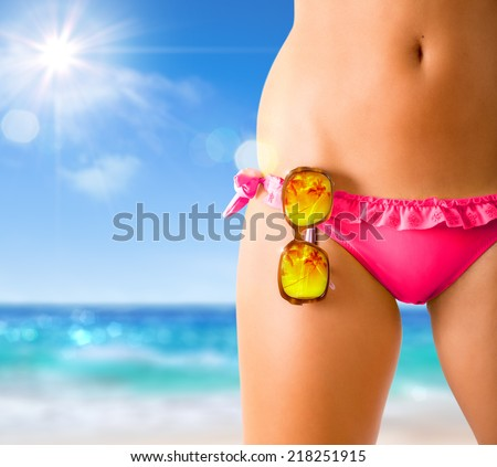 summer concept on the beach  - stock photo