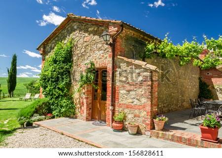 Summer cottage agriturismo in Tuscany, Italy - stock photo