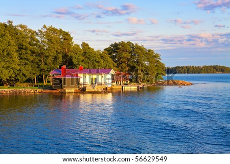 Summer cottage in Finland - stock photo