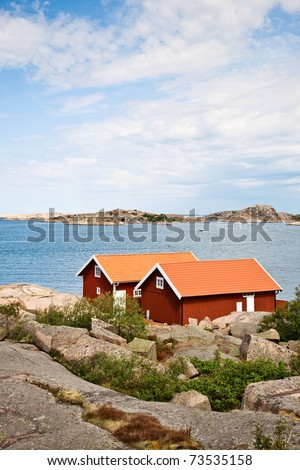 Summer cottages at the Swedish west coast