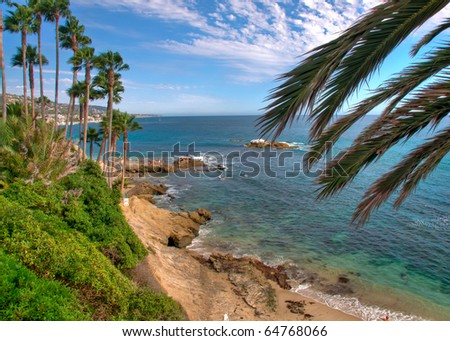 Summer Day on the Pacific Coast in California - stock photo