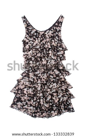 summer dress on a white background isolated - stock photo