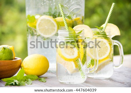 Summer drink - cold lemonade
