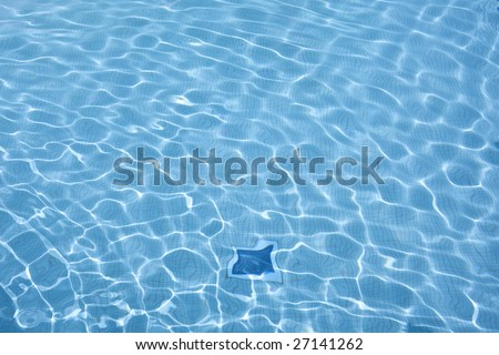 Summer feeling in a pool