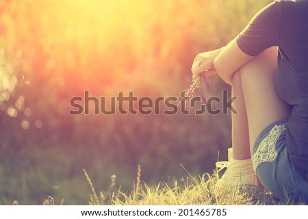 Summer feelings - stock photo