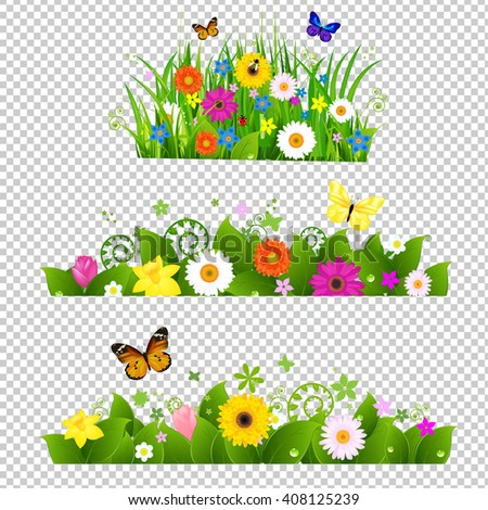 Summer Flowers Bouquet Transparent Background