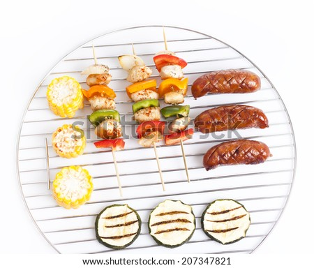 summer garden party with grilled food