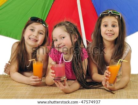 Summer girls - stock photo