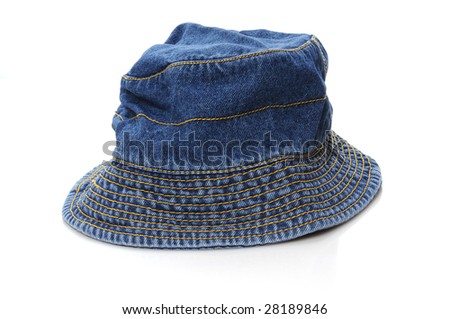 summer hat isolated on white background - stock photo