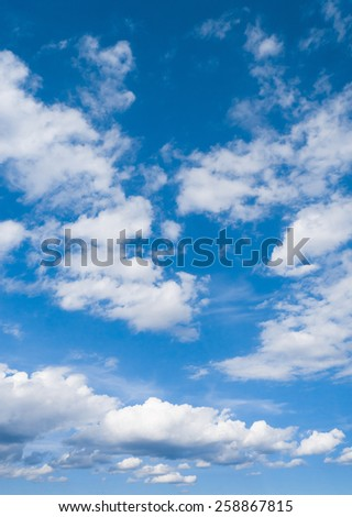 Summer Heavens Cloudy Outdoor  - stock photo
