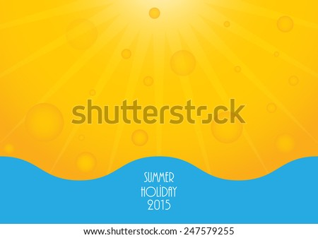 Summer holiday background - stock photo