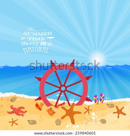 Summer Holiday enjoy - stock photo