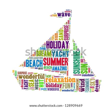 Summer Holiday in word collage