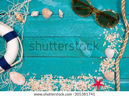 Summer Holidays at the Beach - copy space for individual text - stock photo