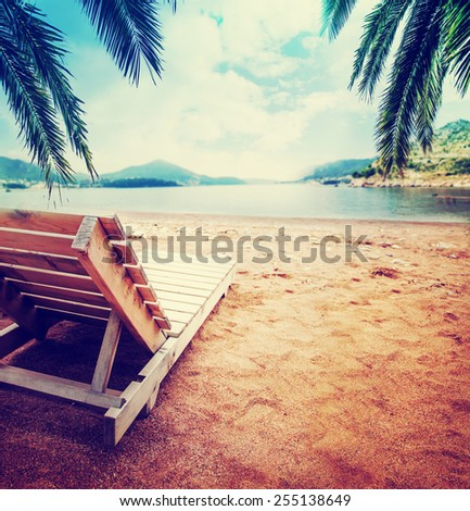 Summer holidays beach background  - stock photo