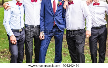 summer, holidays, vacation and happiness concept - group of friends having fun outdoors - stock photo