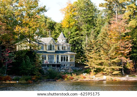 Summer home in autumnal setting