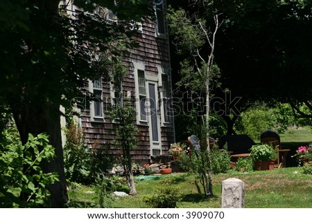 Summer home in New England. - stock photo