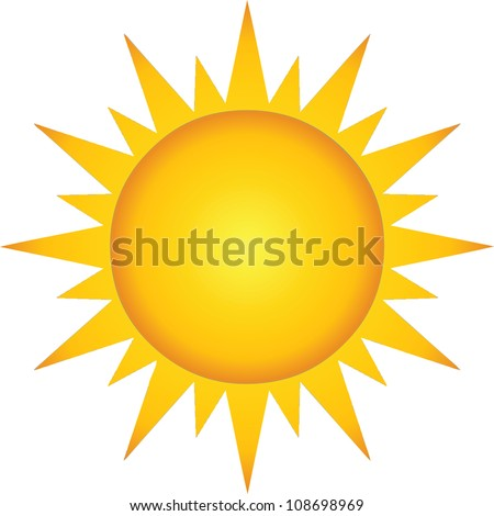 Summer Hot Sun. Raster Illustration.Vector version also available in portfolio. - stock photo