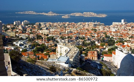 Summer in France. Marseille. - stock photo