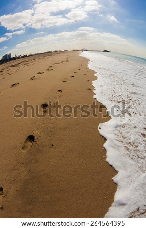 Summer in Santa Monica Beach in California - stock photo