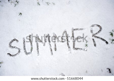 Summer in snow