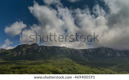 Summer in the Bosnia and Herzegovina highlands, mountain landscape