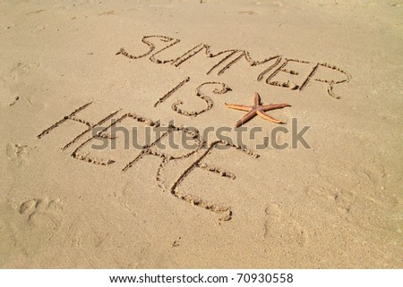 Summer is here - stock photo